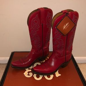 Lucchese women's red boots